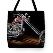 Evel Knievel Harley-davidson Chopper Tote Bag