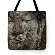 Face Of Buddha Tote Bag