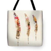 3 Feathers Tote Bag by Bri Buckley