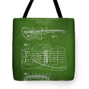 Fender Floating Tremolo Patent Drawing From 1961 - Green Tote Bag