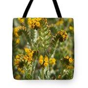 Fiddleneck Flowers Tote Bag