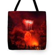 Fireworks Above Toce Falls, Formazza Tote Bag
