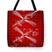 Fish Lure Patent 1933 - Red Tote Bag