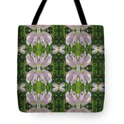 Flowers From Cherryhill Nj America Silken Sparkle Purple Tone Graphically Enhanced Innovative Patter Tote Bag