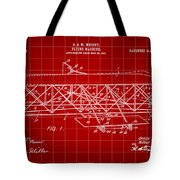 Flying Machine Patent 1903 - Red Tote Bag