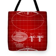 Football Patent 1902 - Red Tote Bag