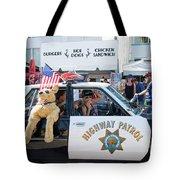 Ford Diplomat Police Car Tote Bag