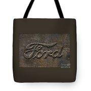 Ford Tough Antique Truck Logo Tote Bag