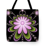 Fractal Floral Decorations Tote Bag
