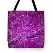Frankfurt Street Map - Frankfurt Germany Road Map Art On Colored Tote Bag