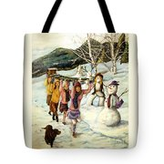 Frosty Frolic Tote Bag