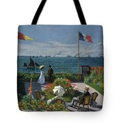 Garden At Sainte-adresse Tote Bag
