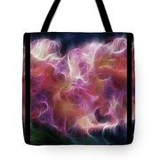 Gladiola Nebula Triptych Tote Bag