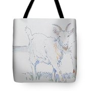 Goat Drawing Tote Bag