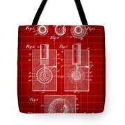 Golf Ball Patent 1902 - Red Tote Bag