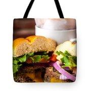 Gourmet Pub Hamburger Tote Bag