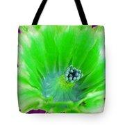 Green Cactus Flower Tote Bag