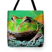 Green Fantasy Frogpacman Frog Tote Bag