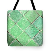 Green Tiles Tote Bag