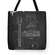 Hart Gibson Electrical Musical Instrument Patent Drawing From 19 Tote Bag