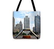 Hart Plaza Detroit Tote Bag