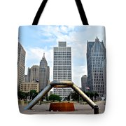 Hart Plaza Detroit Tote Bag