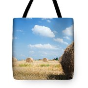 Haystacks In The Field Tote Bag