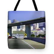 Heading Into The Busy Part Of San Francisco Tote Bag