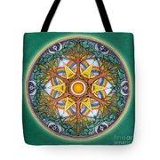 Heaven And Earth Mandala Tote Bag