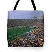 High Angle View Of A Football Stadium Tote Bag
