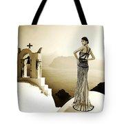 High Fashion Santorini Tote Bag
