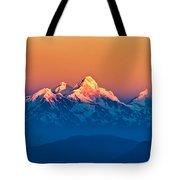 Himalayan Mountains View From Mt. Shivapuri Tote Bag