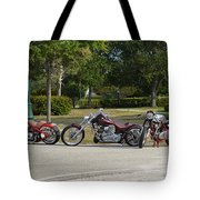 Hogs And Choppers Tote Bag