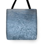 Ice On Abraham Lake Tote Bag