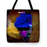 Illinois Map Watercolor Tote Bag