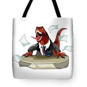 Illustration Of A Tyrannosaurus Rex Tote Bag by Stocktrek Images