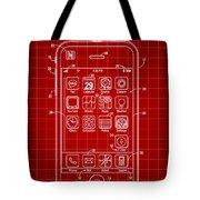iPhone Patent - Red Tote Bag