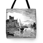 Isle Of Man Peel, 1885 Tote Bag