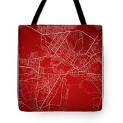 Kabul Street Map - Kabul Afghanistan Road Map Art On Colored Bac Tote Bag