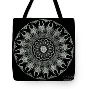 Kaleidoscope Ernst Haeckl Sea Life Series Black And White Set On Tote Bag