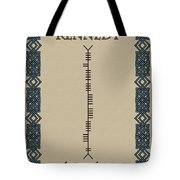 Kennedy Written In Ogham Tote Bag