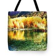 Lake Reflection In Fall Tote Bag