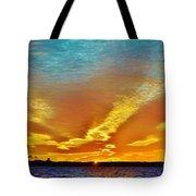 3 Layer Sunset Tote Bag