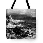 Lone Cypress On The Coast, Pebble Tote Bag