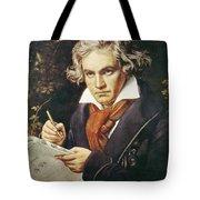 Ludwig Van Beethoven (1770-1827) Tote Bag