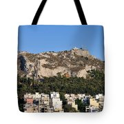 Lycabettus Hill During Sunset Tote Bag