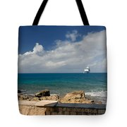 Majesty Of The Seas At Coco Cay Tote Bag