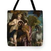Mars And Venus United By Love Tote Bag