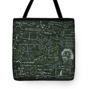 Maths Formula On Chalkboard Tote Bag by Setsiri Silapasuwanchai