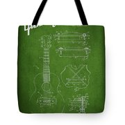 Mccarty Gibson Stringed Instrument Patent Drawing From 1969 - Green Tote Bag